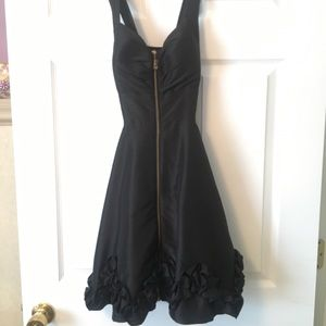 Black dress with zipper